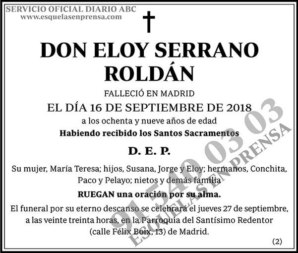 Eloy Serrano Roldán